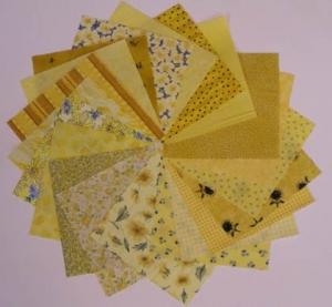 Stoffpackung Basic Gelb,20St.15x15cm