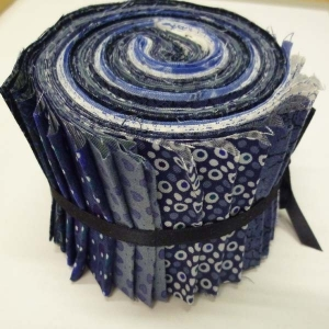 Stoffstreifen  2,5 Inch Blau Basic, 21 Stück