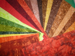 Stoffpackung Batik Herbstfarben 22 Stück 25x25 cm