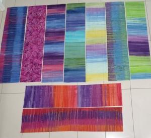 Stoffpackung Batik 9 Stück 25 x 110 cm