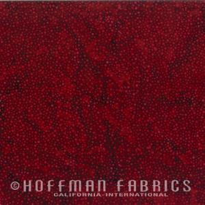 Hoffman Bali Batik Hand Paint (885-568-Red-Velvet)