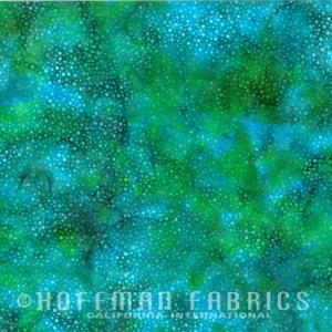Hoffman Bali Batik Hand Paint (885-271-Parakeet)