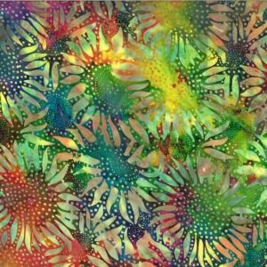 Hoffman Bali Batik Hand Paint -Reststück 32 x 110 cm