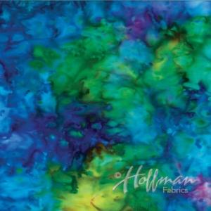 Hoffman Bali Batik Hand Paint (839 -181 Rainbow)