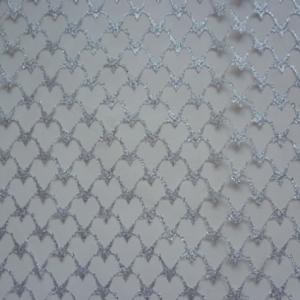 Tüll mit Silbersternen REststück 80 cm