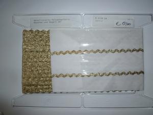 Zackenlitze Gold 25 Meter Packung