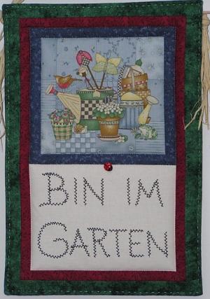 Bin im Garten - Nähanleitung -ohne Textdruck
