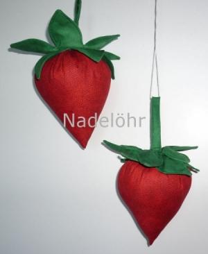 Stofferdbeeren -Deko-Erdbeeren