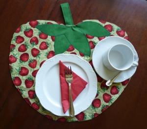 Erdbeer - Tischset zum Wenden