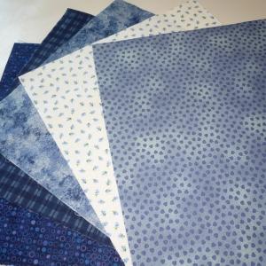 Quadrate Blau  ca. 25 x 25 cm, 5 Stück
