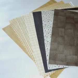 Quadrate Braun  ca. 25 x 25 cm, 7 Stück