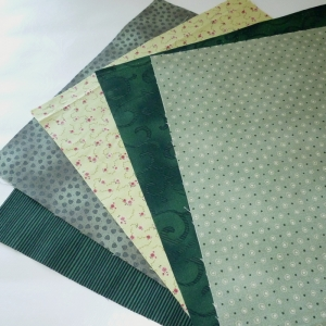 Quadrate Grün ca. 25 x 25 cm, 5 Stück