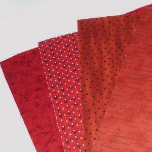 Quadrate Rot  ca. 25 x 25 cm, 4 Stück