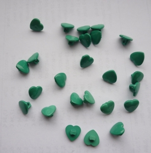 Herzknopf,, grün 26 Stück