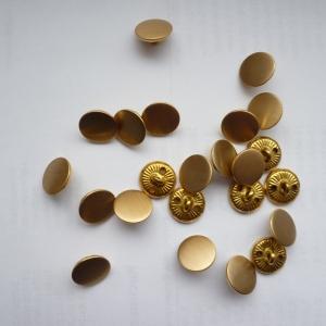 Metallknopf, gold 24  Stück