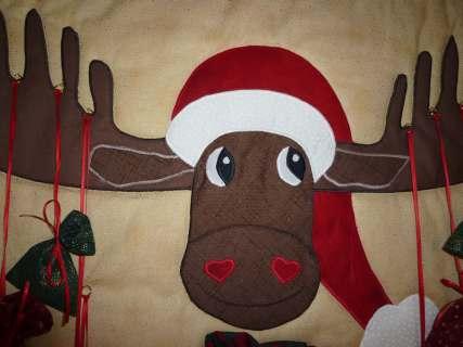 Weihnachtskalender Elch.Adventskalender Elch Hubert Nähanleitung